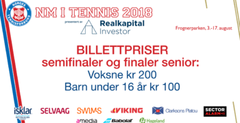 Billettpriser under semi- og finaler senior