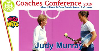Judy Murray klar for Trenerkonferansen